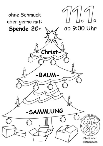 Christbaumsammlung in Röthenbach