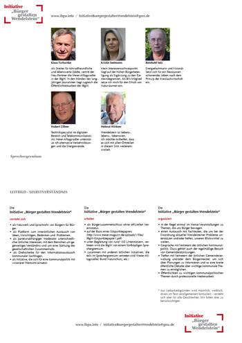 """Initiative """"Bürger gestalten Wendelstein"""""""