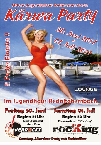 Kärwa Party mit Live Bands im Jugendhaushof in Rednitzhembach